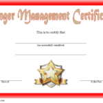 Anger Management Certificate Template 1