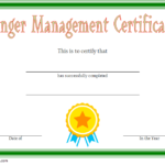 Anger Management Certificate Template 2
