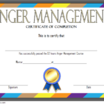 Anger Management Certificate Template 5
