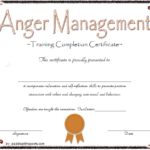 Anger Management Certificate Template: 10+ Fresh Designs