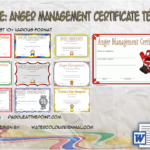Anger Management Certificate Template By Paddleatthepoint.com