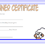 Baby Shower Winner Certificate Template 2