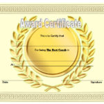 Best Coach Certificate Template 2