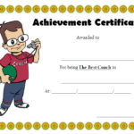 Best Coach Certificate Template 5