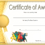 Best Coach Certificate Template 7