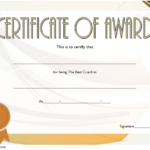 Best Coach Certificate Template 8