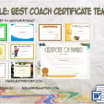 Best Coach Certificate Template By Paddle
