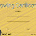 Bowling Certificate Template 1