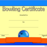 Bowling Certificate Template 3