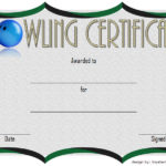 Bowling Certificate Template 4