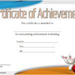 Bowling Certificate Template 7