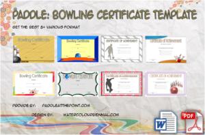 Bowling Certificate Template – 8+ Odd Design Ideas Free