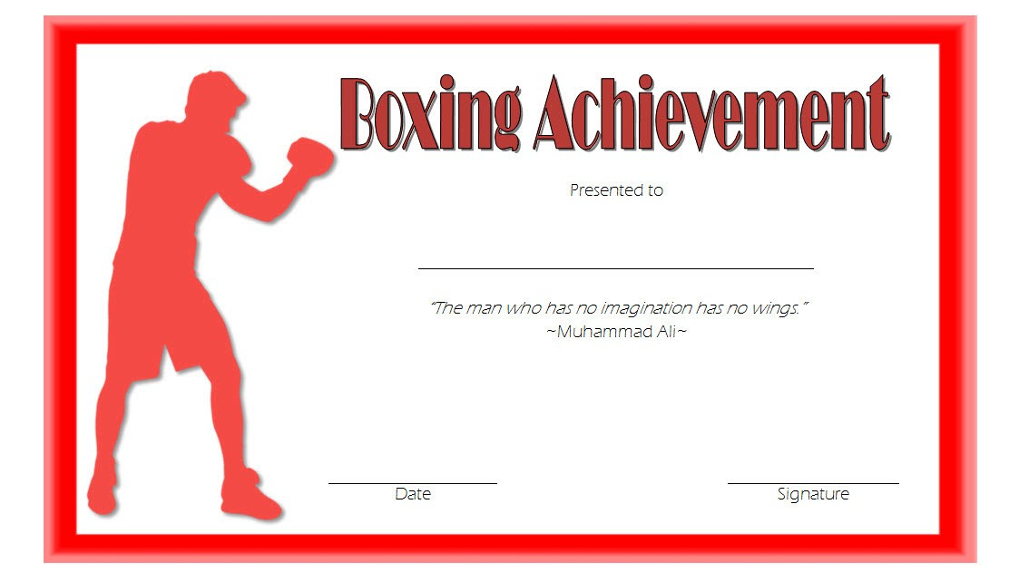 boxing certificate template, kickboxing certificate templates, boxing certificate templates free, boxing match achievement, boxing award certificate templates, blank boxing certificate template