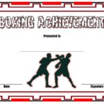 Boxing Certificate Template – 7+ Great Fighter Award Ideas