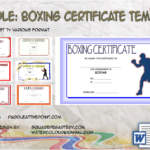 Boxing Certificate Template By Paddle