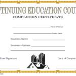 CEU Certificate Template: 7+ Super Educational Designs