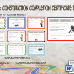 Certificate Of Construction Completion Template By Paddle