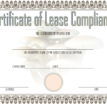 Certificate Of Lease Complience Template 3
