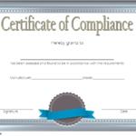 Compliance Certificate Template 1