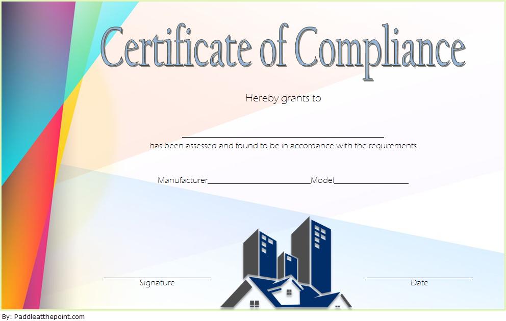 Compliance Certificate Template 2