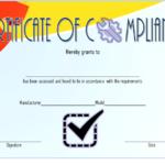 Compliance Certificate Template 3