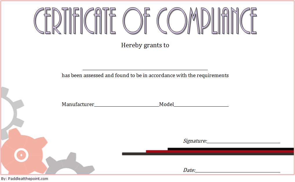 Compliance Certificate Template 4