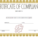 Certificate of Compliance Template: 10+ Latest Designs FREE
