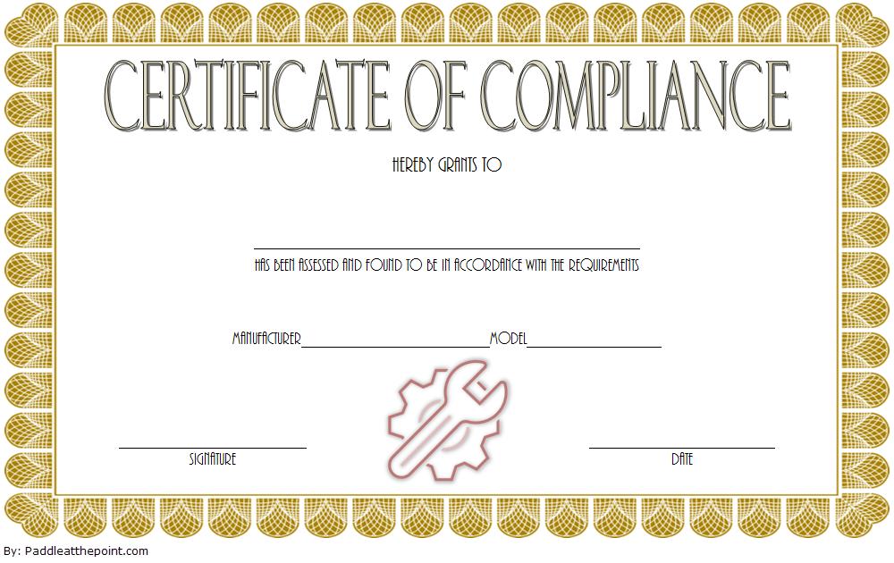 Compliance Certificate Template 5