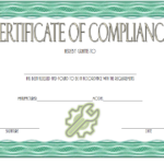 Certificate of Compliance: 10+ Latest Template Designs