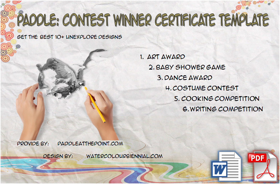 Contest Winner Certificate Template By Paddle