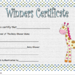 Contest Winner Certificate Template For Baby Shower 2