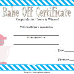 Contest Winner Certificate Template For Bake Off 2