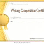 Contest Winner Certificate Template For Writing Competition 1
