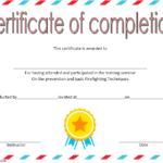 Firefighter Training Certificate Template – 10+ Updated 2019