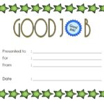 Good Job Certificate Template 2