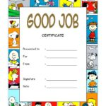 Good Job Certificate Template 5