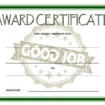 Good Job Certificate Template 7