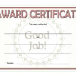 Good Job Certificate Template 8