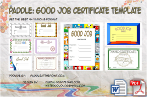 Good Job Certificate Template Free [9+ Best Choices]