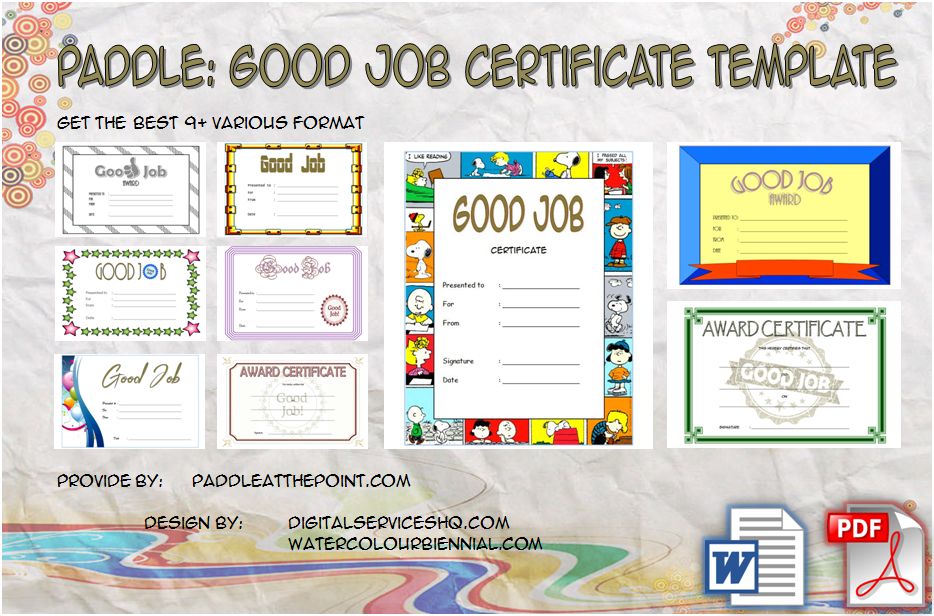 good job certificate template free, great job certificate templates word, best employee certificate template, good job student certificate