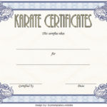 Karate Certificate Template – 10+ Great Fighter Awards