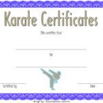 Karate Certificate Template 3