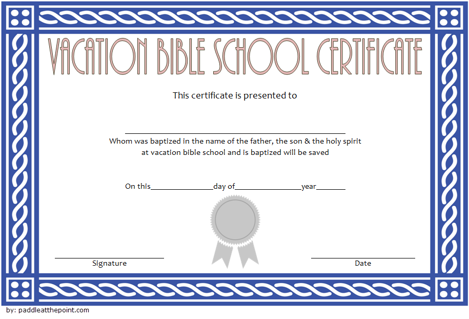 picture about Vbs Certificate Printable identify Lifeway VBS Certification Template - 7+ Clean Ideas inside 2019