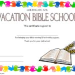 Lifeway VBS Certificate Template – 7+ Fresh Designs in 2019