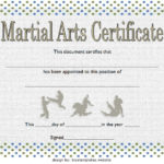 Martial Arts Certificate Template 1