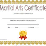 Martial Arts Certificate Template 4