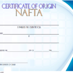 Nafta Certificate Of Origin Template 3