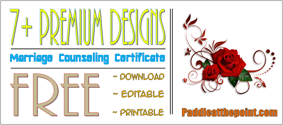 certificate of marriage counseling template, pre marriage counseling template, premarital counseling certificate of completion template, marriage counseling of completion template, free premarital counseling certificate
