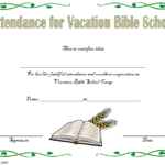 VBS Attendance Certificate Template – 7+ Luxurious Designs