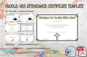 VBS Attendance Certificate Template – 7+ Luxurious Designs